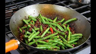 Chinese Influenced Green Beans With Chicken | CaribbeanPot.com
