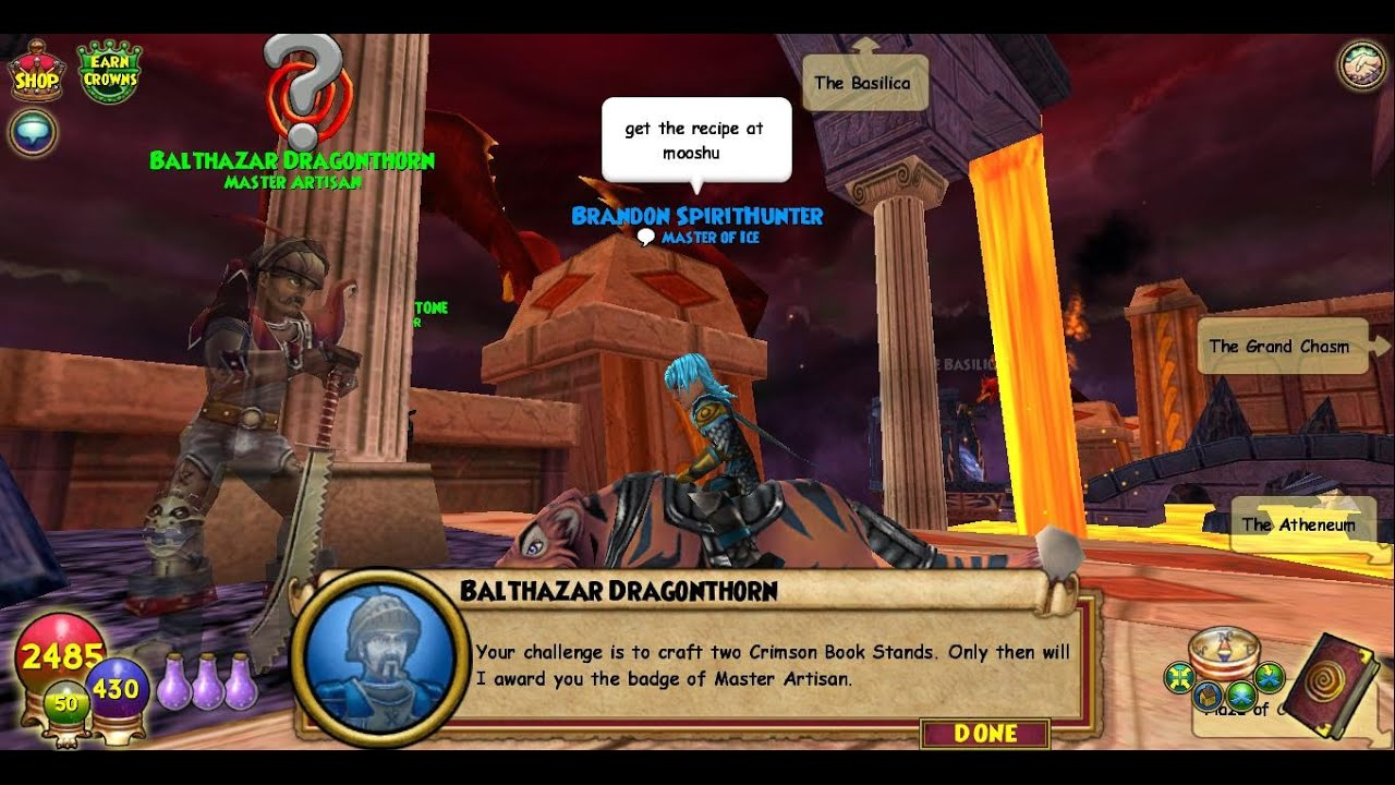 How To Get The Crimson Book Stand On Wizard101