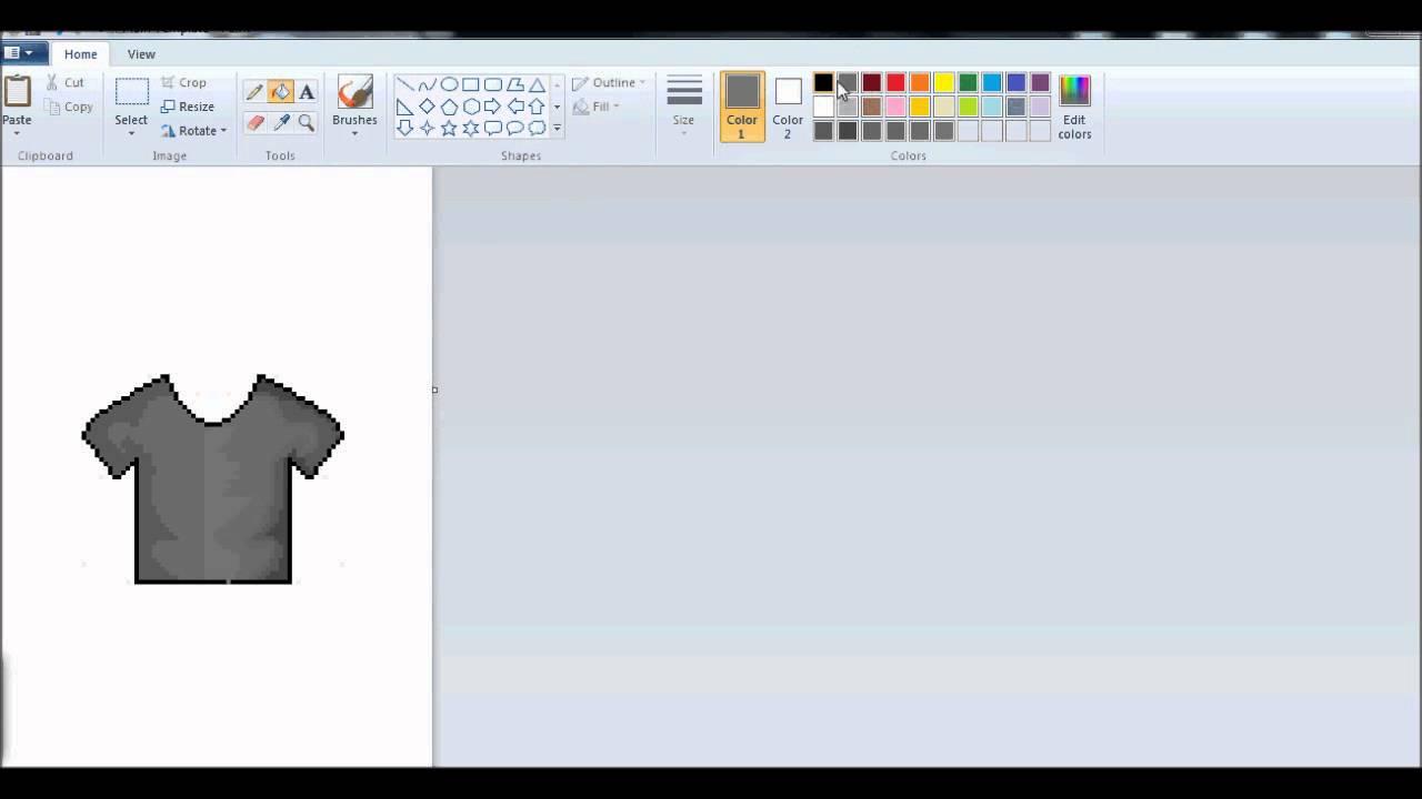 Making A Shirt In Ms Paintpaint Rebucks Youtube