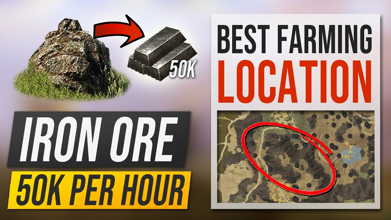 Download Best IRON ORE Locations in New World – Where to get 50k Iron per hour Farming Route Location Guide!