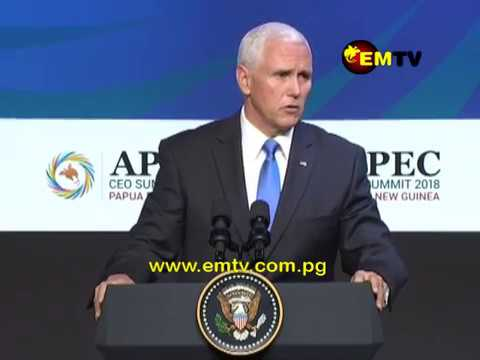 US Vice President, Mike Pence Issue Strong Warning to APEC Economies to avoid China's debt Diplomacy
