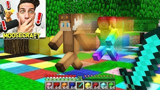 vuclip RAINBOW STEVE CHASES MOOSECRAFT IN MINECRAFT!