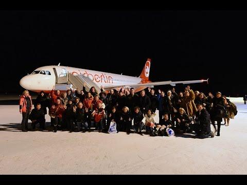airberlin A320 Polar Night Flight Operation and landing into