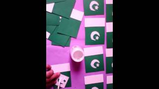 How to make national flag badges by zinnia creation