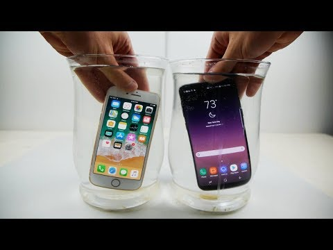 iPhone 8 vs Samsung Galaxy S8 Salt Water Test!