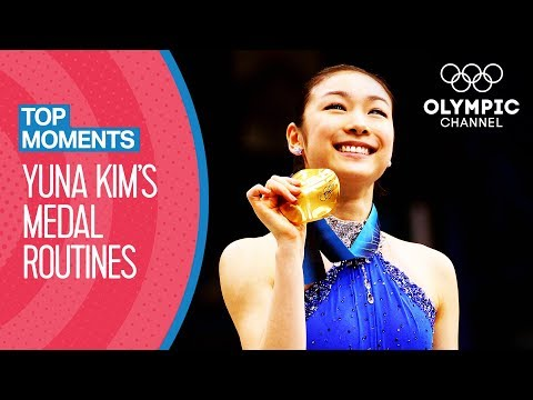 All Yuna Kim's FULL length Olympic medal winning routines   Top Moments