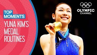 All Yuna Kim's FULL length Olympic medal winning routines | Top Moments