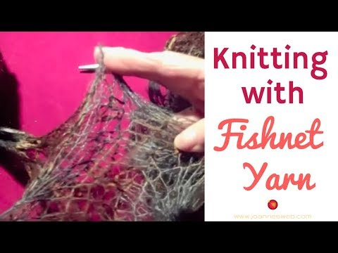 How-to Knit With Fishnet Yarn | Knitting With Ruffles| Ruffled Yarn Knitting