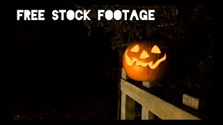 New 'HALLOWEEN JACK O' LANTERN' Free Stock Footage