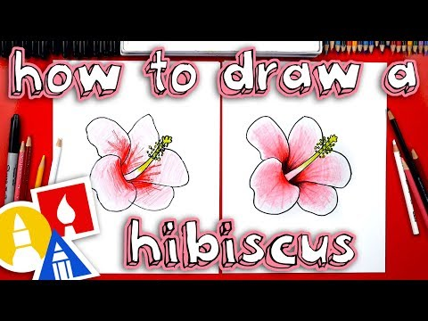 How To Draw A Hibiscus Flower 🌺