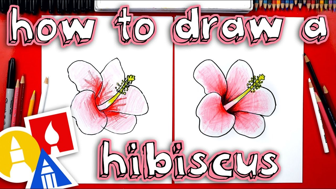 How To Draw A Hibiscus Flower Youtube