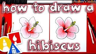 hawaiian flowers drawing lesson