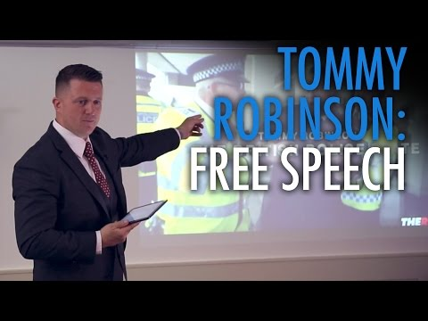 "Tommy Robinson's BANNED speech: ""The British Police State"""