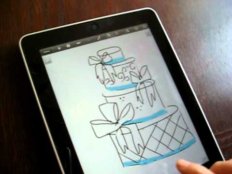 Wedding Cake Design Programs Free : Using the iPad for Cake Decorating - YouTube
