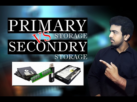 primary and secondary storage differences