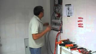 montagem de quadro de distribuição de circuito
