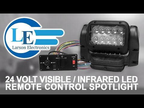 24 Volt Visible/Infrared LED Remote Control Spotlight - Dash Remote