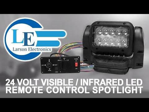 24 Volt Visible/Infrared LED Remote Control Spotlight - Dash Remote