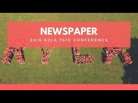 RYLA 7410 2016 Newspaper Group Behind the Scenes