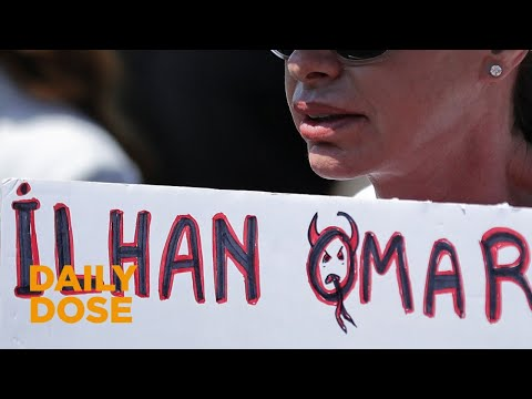 Protest in Times Square Demanding Removal of Ilhan Omar
