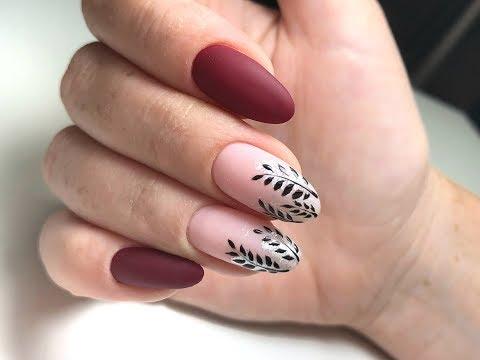 Преображение. Маникюр ДО и ПОСЛЕ. Осенний дизайн ногтей 2018