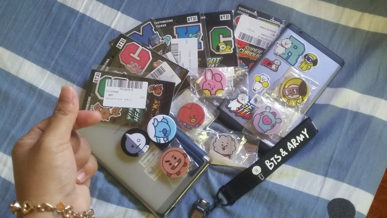 Bt21 Unofficial Merch From Shoppee Youtube