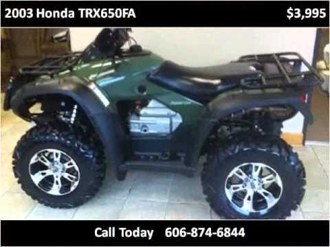 2003 Honda TRX650FA Used Cars Prestonsburg KY