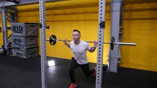 Barbell Revers Back Lunges