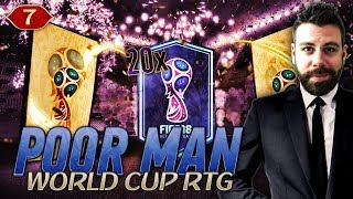 20x WORLD CUP MODE PACKS and new 3 ATB FORMATION! - POOR MAN WORLD CUP RTG #7 - FIFA 18