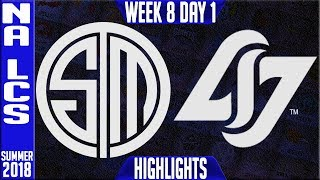 Video TSM vs CLG Highlights | NA LCS Summer 2018 Week 8 Day 1 | Team Solomid vs Counter Logic Gaming download MP3, 3GP, MP4, WEBM, AVI, FLV Agustus 2018