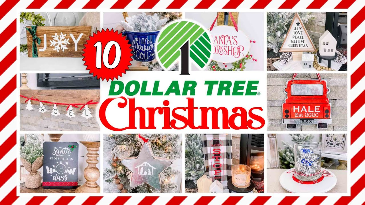 🎄10 EASY DOLLAR TREE Christmas Crafts for 2021!  EASY & CHEAP Holiday home decor & gifts!