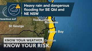 Severe Weather Update: heavy rain and dangerous flooding for SE Qld and NE NSW, 13 December 2020