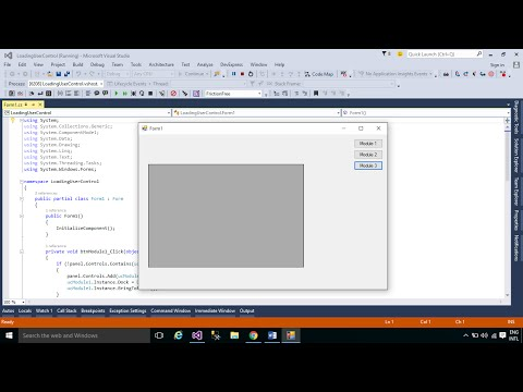 C# Tutorial : How to load User control dynamically | FoxLearn