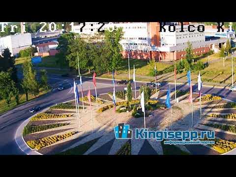Кингисеппские ТОРОПЫГИ или как создать ДТП на кольце. Видео момента удара с веб-камеры KINGISEPP.RU