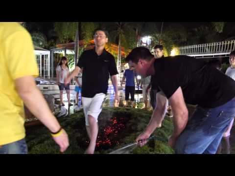 Firewalk with Michael Bolduc at Master NLP Certification!