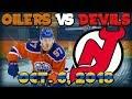 Edmonton Oilers vs New Jersey Devils | NHL Global Series Sweden Reaction Livestream Oct. 6, 2018