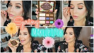 Colorful Spring Makeup Look | One Brand Tutorial + TOO FACED GIVEAWAY!