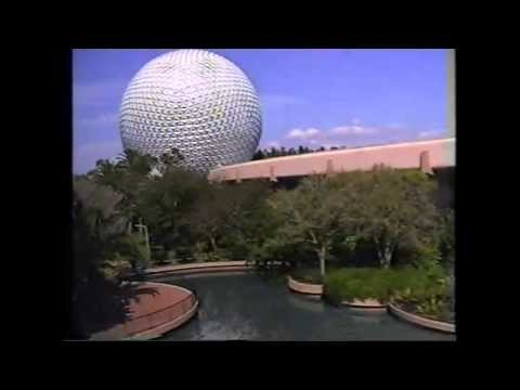 Walt Disney World EPCOT Florida USA. Arrival in the monorail 1998