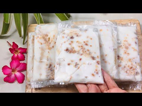 KEM CHUỐI- Cách làm Kem Chuối Miền Tây béo ngậy, bột kem dừa dẻo ngon không dăm đá. Banana Cream | Foci