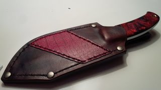 Knife Making from 1095 steel - Nostalgia of Red : Part 2