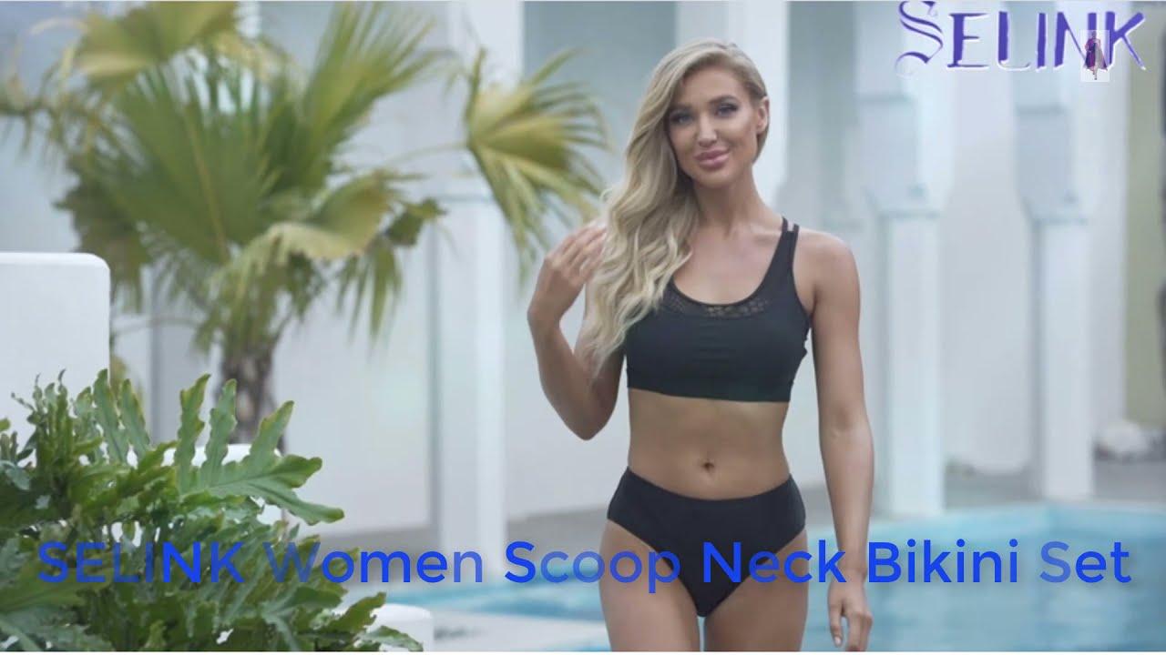 SELINK Women Scoop Neck Bikini Set  Summer Outfits  Bareeze Summer Collection 2021  Summer Dresses