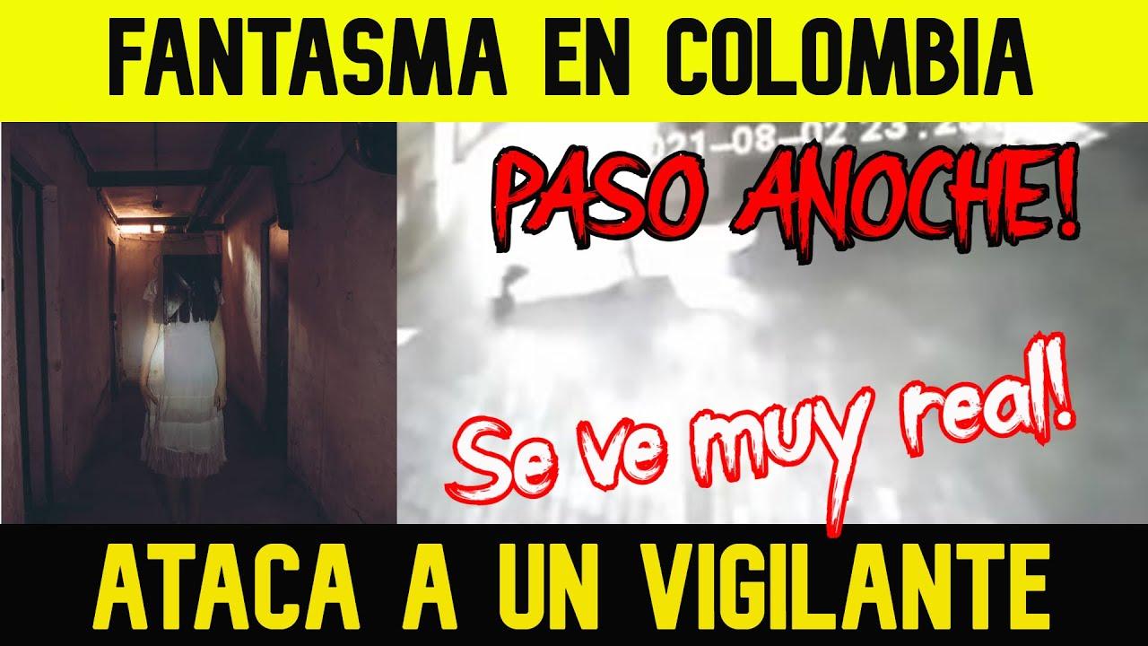 FANTASMA ATACA A VIGILANTE EN UNA ALCALDÍA EN COLOMBIA (Juzguen ustedes,la verdad se ve muy real)💖💜🤍
