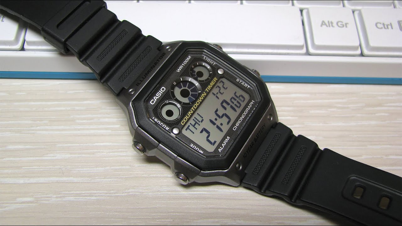 ead9baf874a Casio AE 1300WH Sport Watch - YouTube