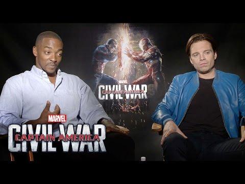 Anthony Mackie and Sebastian Stan on Marvel's Captain America: Civil War