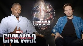 Anthony Mackie and Sebastian Stan on Marvel's Captain America: Civil War