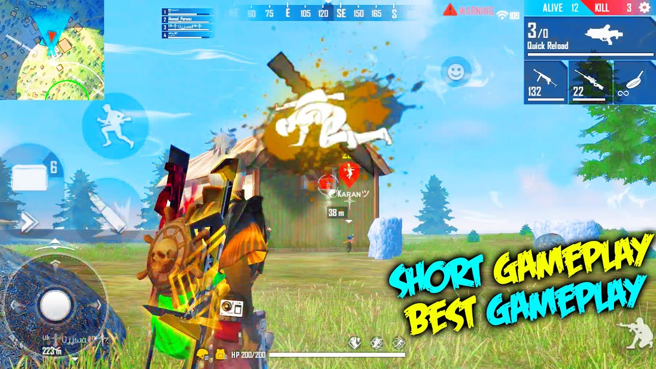 Don't Come Near Me Or You Will Die | Short Gameplay But OP Gameplay | Garena Free Fire – P.K. GAMERS