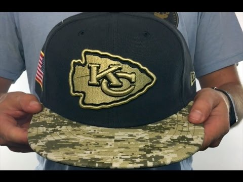 bc5ef5f9371 Chiefs  2016 SALUTE-TO-SERVICE  Grey-Desert Fitted Hat by New Era ...