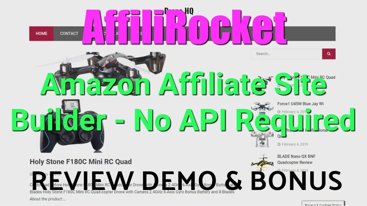 AffiliRocket Review Demo Bonus - No API Required Amazon Affiliate Site  Builder