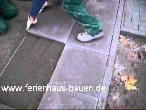 gartengestaltung platten verlegen - youtube - Gehwegplatten Verlegen Selber Machen