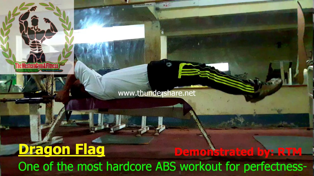 Download How to do a Dragon Flag (GET KILLER ABS!)